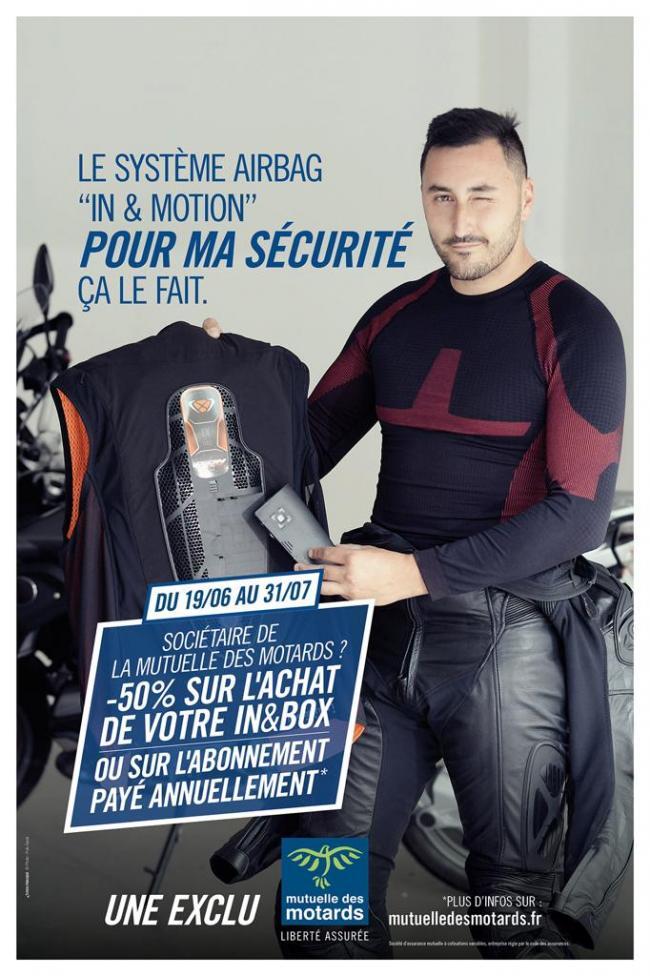 La Mutuelle des Motards et In&motion s'associent pour rendre plus accessible l'airbag moto